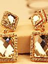 Femme Boucles d'oreille goutte Cristal Alliage Formé Carrée Bijoux Pour Mariage Soirée