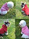 Casacos / Camisola com Capuz / Calças - Inverno - Vermelho / Rosa / Cinzento / Amarelo Algodão / Malha polar - para Cães -XS / M / XL / S