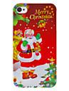 아이폰 4/4S를위한 많은 선물 패턴 하드 케이스와 함께 크리스마스 시리즈 아버지 크리스마스