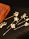 Sweet Gold Alloy Barrettes FOR Women(Gold)(1 Pc)