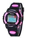 어린이 SYNOKE LEO 디지털 PU 밴드 물에게 저항하는 손목 시계 다이얼