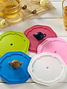 주전자 손잡이 실리콘 누출 증거 컵 커버 (색상 랜덤)
