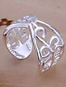 (1 шт) сладостных Женская Серебряный медное кольцо (размер регулируется)