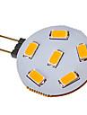 SENCART 2.5W 120-150 lm G4 LED Spotlight 6 leds SMD 5730 Warm White Cold White DC 12V AC 12V