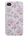 Fleur rose et le corps entier de Leaf Pattern PU cuir pour iPhone 4/4S