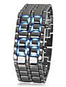 남성 손목 시계 팔찌 시계 LED 달력 디지털 스테인레스 스틸 밴드 멋진 블랙