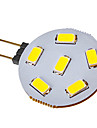SENCART 120-150lm G4 LED 스팟 조명 6 LED 비즈 SMD 5730 차가운 화이트