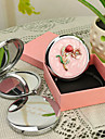 Personlig gåva Blossom Style Pink Chrome Compact Mirror