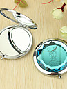 Personalizirani poklon srca i ljubavnik Pattern Chrome Compact Mirror