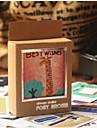 Desenhos animados Vida Feliz Padrão Cartão postal (40 PCS)