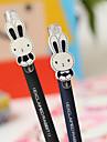 Симпатичный мультфильм кролик Дизайн Матовый ствола черными чернилами гелевая ручка