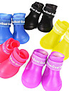Dog Boots / Shoes Waterproof Rain Boots Solid Black Purple Yellow Red Blue For Pets