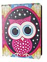 Vesperal Capa de Couro Big Eyes Owl Pattern PU com suporte para iPad 2/3/4