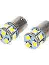 BA15S T18 1.6W 110LM 12VDC 9-LED White Light Car Light Bulbs