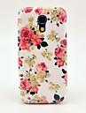 삼성 갤럭시 S4 미니 I9190를위한 아름다운 장미 꽃 본 단단한 뒤 표지 케이스