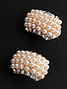 Sweet Gold Alloy&Imitation Pearl Stud Earrings(White) (1 Pair)