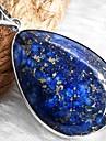 Waterdrop Lapis Lazuli Gemstone Gem Necklace Pendant