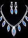 Bijoux Colliers décoratifs Boucles d'oreille Mariage Soirée Quotidien Décontracté Cristal Alliage Strass Femme Rouge BleuCadeaux de