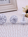 Chrysanthemum Pattern Cake and Cookies Cutter Mold (4 PCS)