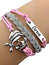 Miss ROSE®Retro Skull LOVE Leather Bracelet