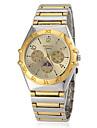 Masculino Relógio Elegante Quartzo Banda Prata Dourada marca