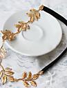 Mariage perle nuptiale Feuille Fleur cristal cravates de cheveux