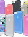 Capinha Para iPhone 5 Apple Capinha iPhone 5 Ultra-Fina Aspero Translucido Capa traseira Cor Solida Rigida PC para iPhone SE/5s iPhone 5