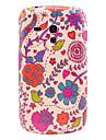 Flores e pássaros vermelhos Padrão Capa Hard Case Voltar para Samsung Galaxy S3 Mini I8190