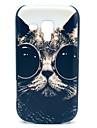 Dure de cas modèle de lunettes de soleil de chat pour Samsung Galaxy tendance Duos S7562