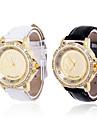 Women's Golden Dial Analog Quartz Leather Band Wrist Watch