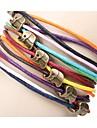 Z&X®  Alloy Elephant DIY Colorful Wax Rope Bracelet