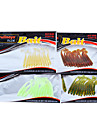 12 pcs Soft Bait Lure kits Fishing Lures Lure Packs Soft Bait Green Yellow Assorted Colors Transparent Red Random Colors g/Ounce mm/2-1/8""