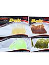 12 pcs Leurre souple Kits de leurre leurres de peche Kits de leurre Leurre soupleVert Jaune Couleurs assorties Transparente Rouge