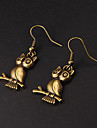 Drop Earrings Alloy Owl Animal Jewelry Party Daily Costume Jewelry