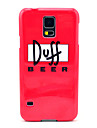 Duff Beer Pattern Hard Case Cover for Samsung Galaxy S5 I9600