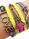 anitque 황동 에펠 탑 팔찌