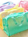 Padrão Flor Transparente saco de armazenamento Cosméticos (cor aleatória)