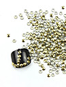 300PCS 3D Golden Arredondamento Liga Nail Art de Ouro e Prata Decoracao