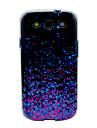 Roxo brilhando sequins padrão TPU Soft Case Capa para Galaxy S3 I9300