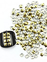 300PCS 3D Golden Square Liga Nail Art de Ouro e Prata Decoracao