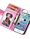 Wallet Style Pu Leather Case for Iphone 5S/5G With Stand Fuction