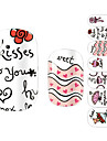 28PCS Dynamic Kiss Design Nail Art Stickers