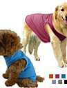Dog Shirt / T-Shirt Dog Clothes Solid Colored Gray Purple Rose Green Blue Cotton Terylene Costume For Pets