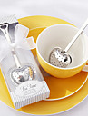 """Tea Time"" Heart Stainless Steel Tea Infuser in Elegant White Gift Box,W16.5cm xL5cm"