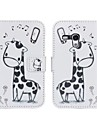 Giraffe Pattern Pu Leather Case Full Body para Samsung Galaxy S3 mini-I8190