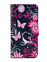 Flower Butterfly Pattern Full Body Leather Tpu Case for iPhone 5/5S