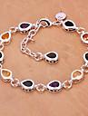 мода 25см женские серебряные медные браслеты