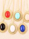 moda multicolor pedra preciosa camisola cadeia de diamante (cor aleatória)
