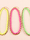 Fluorescent Color Braided Necklace