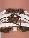 בגדי ריקוד נשים צמידי גלישה צמידי עור עור ינשוף מעורר השראה צמידים תכשיטים לבן / חום עבור Christmas Gifts Party יומי קזו'אל